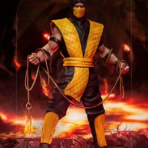 Mortal Kombat Art Scale Statue 1/10 Scorpion 22 cm Iron Studios UK Mortal Kombat figures UK Mortal Kombat corpion statue iron studios UK Animetal