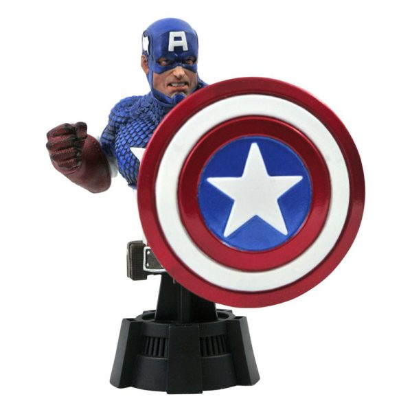 Marvel Comics Bust Captain America 15 cm Diamond Select UK marvel statues UK marvel captain america bust UK marvel merchandise UK Animetal
