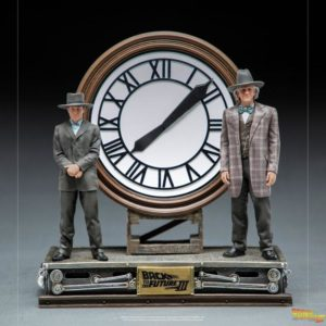 Back to the Future III Deluxe Art Scale Statue 1/10 Marty and Doc at the Clock Iron Studios UK back to the future iron studios statue UK Animetal