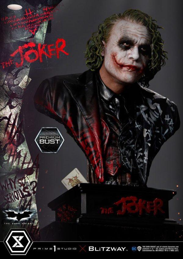 The Dark Knight Premium Bust The Joker Prime 1 Studio UK the dark night the joker limited edition bust prime 1 studio UK dark night joker statues UK Animetal