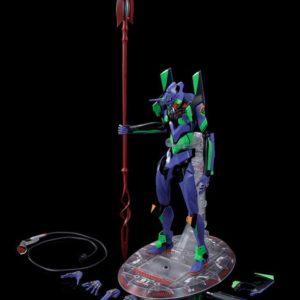 Evangelion 3.0+1.0 DYNACTION Action Figure Test Type-01 + Spear of Cassius (Renewal Color Ed.) 40 cm Bandai Tamashii Nations UK ANimetal