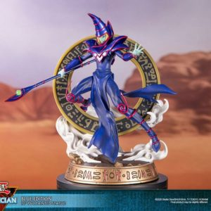 Yu-Gi-Oh! PVC Statue Dark Magician Blue Version First 4 Figures UK yu-gi-oh dark magician first 4 figures statue UK yu-gi-oh dark magician statue UK Animetal