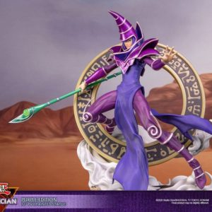 Yu-Gi-Oh! PVC Statue Dark Magician Purple Version First 4 Figures UK yu-gi-oh dark magician first 4 figures statue UK yu-gi-oh dark magician statue UK Animetal